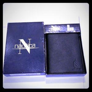 NEW/NWT Nautical Black Men's Flipfold Wallet